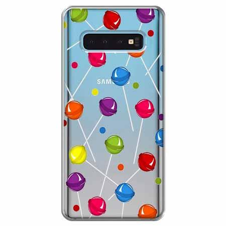Etui na Samsung Galaxy S10 - Kolorowe lizaki.