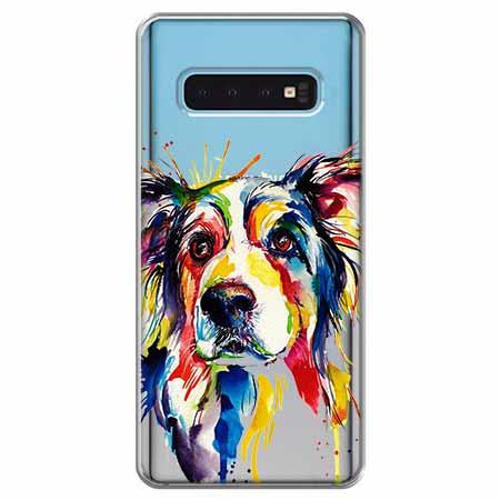 Etui na Samsung Galaxy S10 - Watercolor pies.