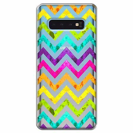 Etui na Samsung Galaxy S10 - Tęczowy przeplataniec.