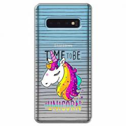 Etui na Samsung Galaxy S10 - Time to be unicorn - Jednorożec.