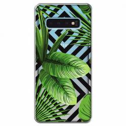 Etui na Samsung Galaxy S10 - Egzotyczne liście bananowca.