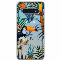 Etui na Samsung Galaxy S10 - Egzotyczne tukany.