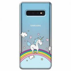 Etui na Samsung Galaxy S10 - Jednorożec na tęczy.