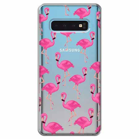 Etui na Samsung Galaxy S10 - Różowe flamingi.