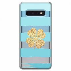 Etui na Samsung Galaxy S10 Plus - Złota czterolistna koniczyna.