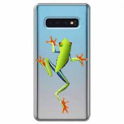 Etui na Samsung Galaxy S10 Plus - Zielona żabka.