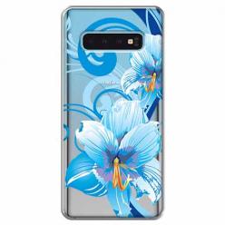 Etui na Samsung Galaxy S10 Plus - Niebieski kwiat północy.