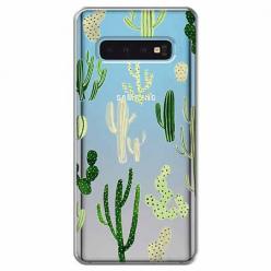 Etui na Samsung Galaxy S10 Plus - Kaktusowy ogród.