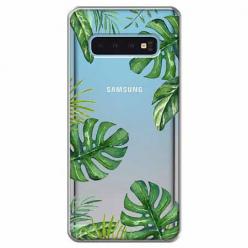 Etui na Samsung Galaxy S10 Plus - Egzotyczna roślina Monstera.