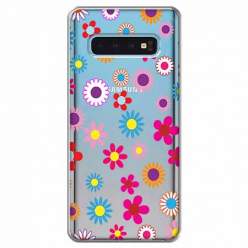 Etui na Samsung Galaxy S10 Plus - Kolorowe stokrotki.