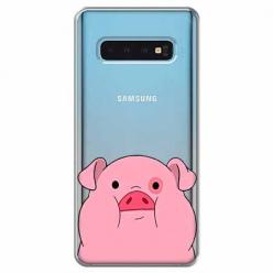 Etui na Samsung Galaxy S10 Plus - Słodka różowa świnka.