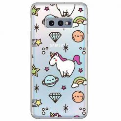 Etui na Samsung Galaxy S10e - Podniebne jednorożce.