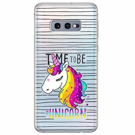 Etui na Samsung Galaxy S10e - Time to be unicorn - Jednorożec.