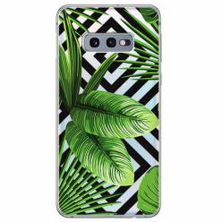 Etui na Samsung Galaxy S10e - Egzotyczne liście bananowca.