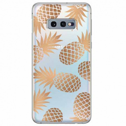 Etui na Samsung Galaxy S10e - Złote ananasy.