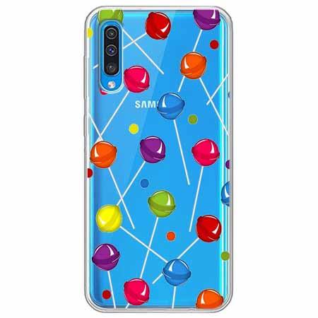 Etui na Samsung Galaxy A50 - Kolorowe lizaki.