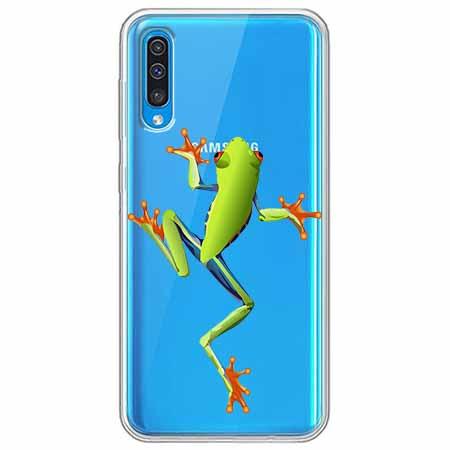 Etui na Samsung Galaxy A50 - Zielona żabka.