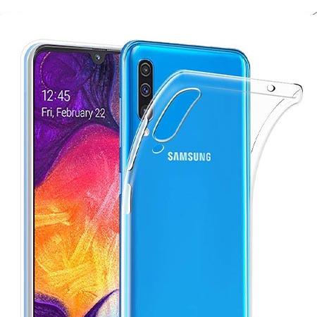 Etui na Samsung Galaxy A50 - Tęczowy jednorożec na chmurce.