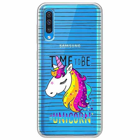 Etui na Samsung Galaxy A50 - Time to be unicorn - Jednorożec.