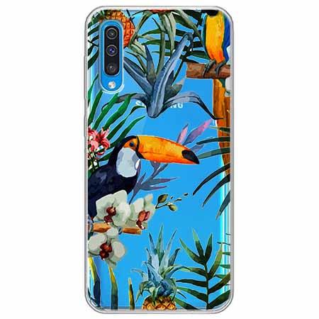 Etui na Samsung Galaxy A50 - Egzotyczne tukany.