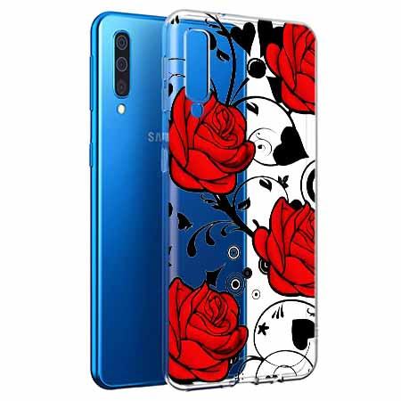 Etui na Samsung Galaxy A50 - Czerwone róże.
