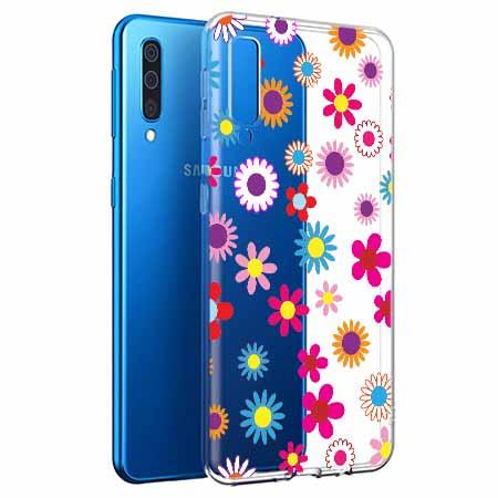 Etui na Samsung Galaxy A50 - Kolorowe stokrotki.