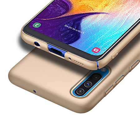 Etui na telefon Samsung Galaxy A50 - Slim MattE - Złoty.