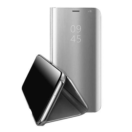 Etui na Samsung Galaxy A40 - Flip Clear View z klapką - Srebrny.