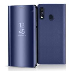 Etui na Samsung Galaxy A40 - Flip Clear View z klapką - Granatowy.