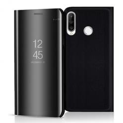 Etui na Huawei P30 Lite - Flip Clear View z klapką - Czarny.