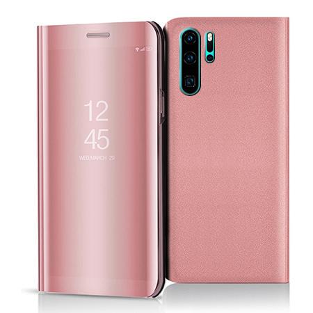 Etui na Huawei P30 Pro - Flip Clear View z klapką - Różowy.