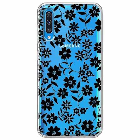 Etui na Samsung Galaxy A70 - Polne stokrotki nocą.