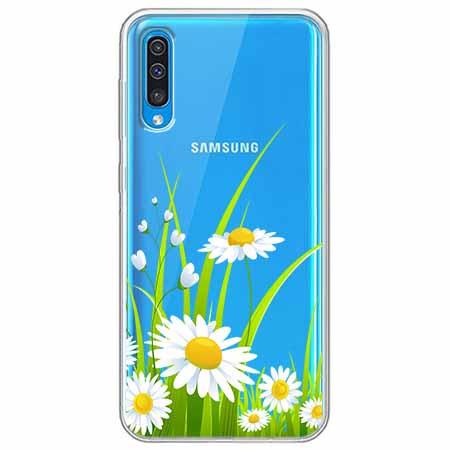 Etui na Samsung Galaxy A70 - Polne stokrotki.