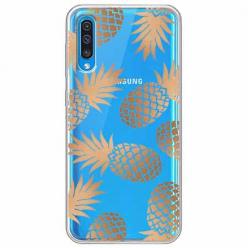 Etui na Samsung Galaxy A70 - Złote ananasy.