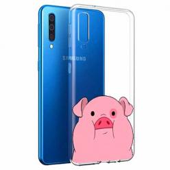 Etui na Samsung Galaxy A70 - Słodka różowa świnka.