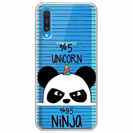 Etui na Samsung Galaxy A70 - Ninja Unicorn - Jednorożec.
