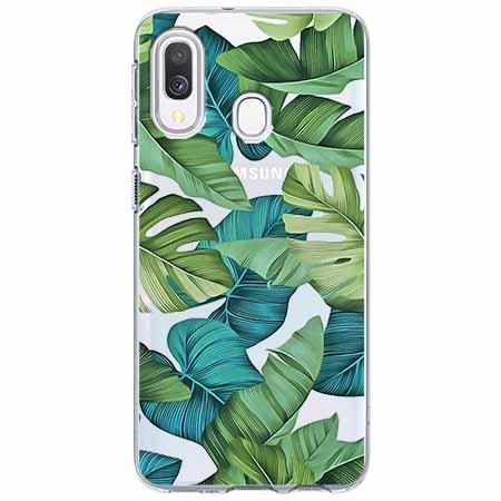 Etui na Samsung Galaxy A40 - Egzotyczne liście