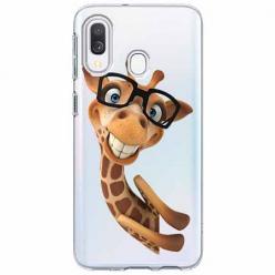 Etui na Samsung Galaxy A40 - Żyrafa w okularach.