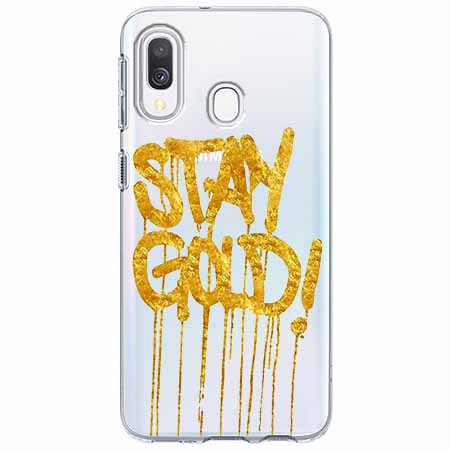 Etui na Samsung Galaxy A40 - Stay Gold.