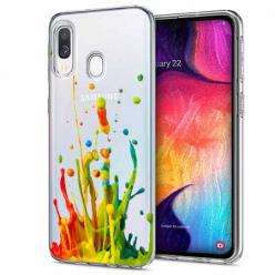 Etui na Samsung Galaxy A40 - Kolorowy splash.