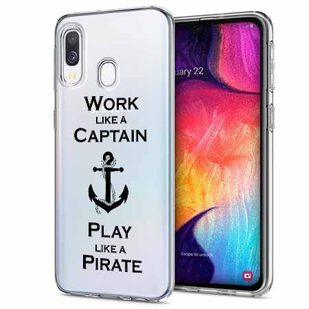 Etui na Samsung Galaxy A40 - Work like a Captain…