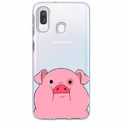 Etui na Samsung Galaxy A40 - Słodka różowa świnka.