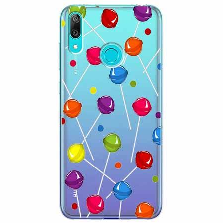Etui na Huawei Y6 2019 - Kolorowe lizaki.