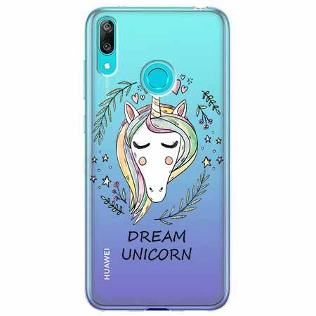 Etui na Huawei Y6 2019 - Dream unicorn - Jednorożec.