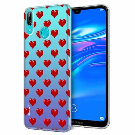 Etui na Huawei Y6 2019 - Czerwone serduszka.