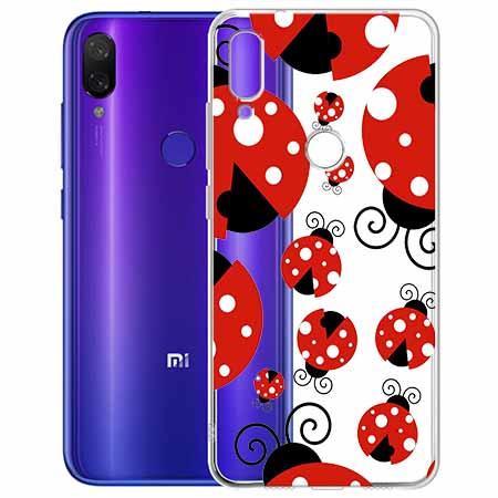 Etui na Xiaomi Redmi Note 7 - Czerwone  biedronki.