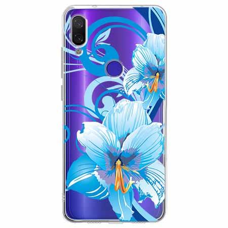 Etui na Xiaomi Redmi Note 7 - Niebieski kwiat północy.
