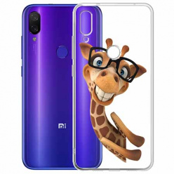 Etui na Xiaomi Redmi Note 7 - Żyrafa w okularach.