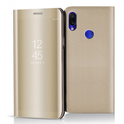 Etui na Xiaomi Redmi Note 7 - Flip Clear View z klapką - Złoty.