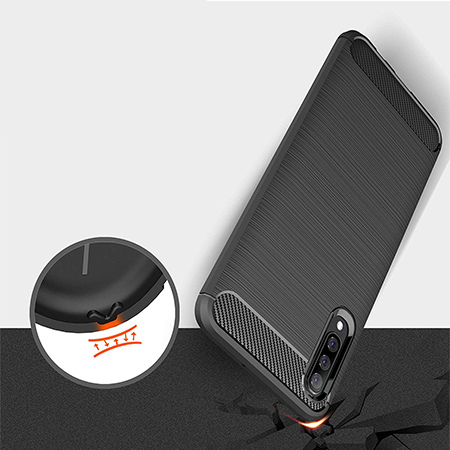 Etui na Samsung Galaxy A50  - bumper Neo CARBON - Czarny.